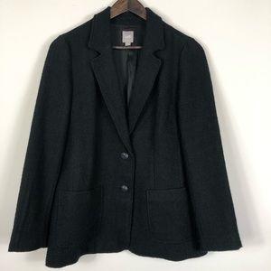 J Jill size Small Black Tweed Wool Blend Blazer